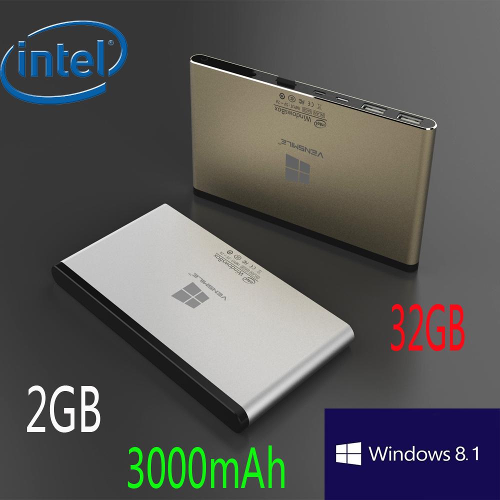 Vensmile IPC002 MINI PC TV Box Intel Atom Z3735F Quad Core CPU activate Windows 8.1 OS 2GB+32GB Storage WIntel Box Mini Computer(China (Mainland))