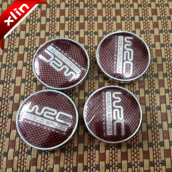 4pcs High quality 60mm Red lattice WRC logo car emblem Wheel Center Hub Cap badge covers accessories(China (Mainland))