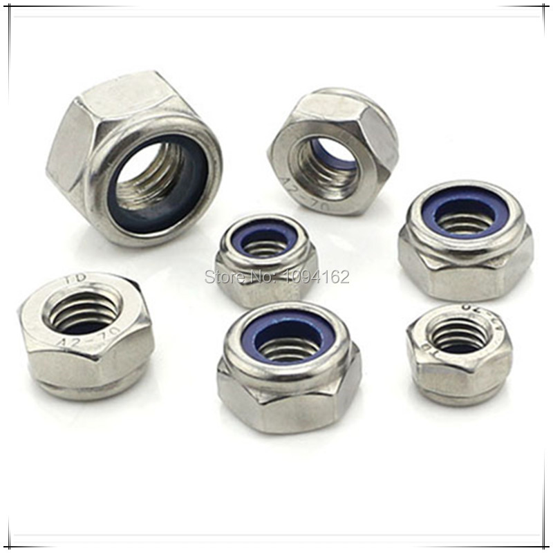 M8 Left Thread Stainless Steel A2 DIN985 Nylon Self Locking Nuts 50pcs/lot<br><br>Aliexpress