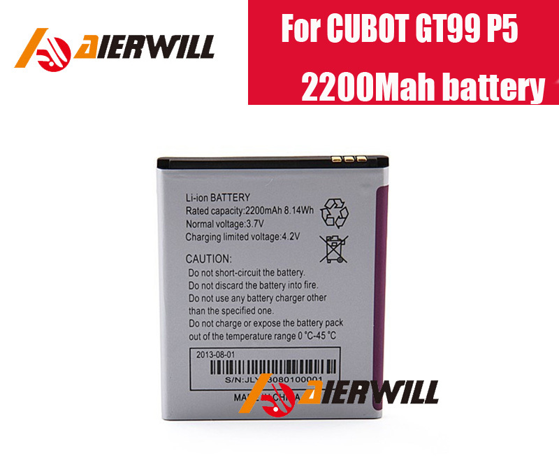 Hot Sell 100% Original 2200Mah battery for CUBOT GT99 P5 Samrtphone In Stock + free shipping +tracking number