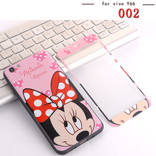 Buy Front Full Tempered Glass screen protector Vivo Y66 painted sexy lips kitty minnie girl Vivo Y66 Y 66 case cover couqe for $3.94 in AliExpress store