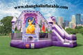 HOT indoor playground equipment children amusement park pink princess bounce house and slide combo