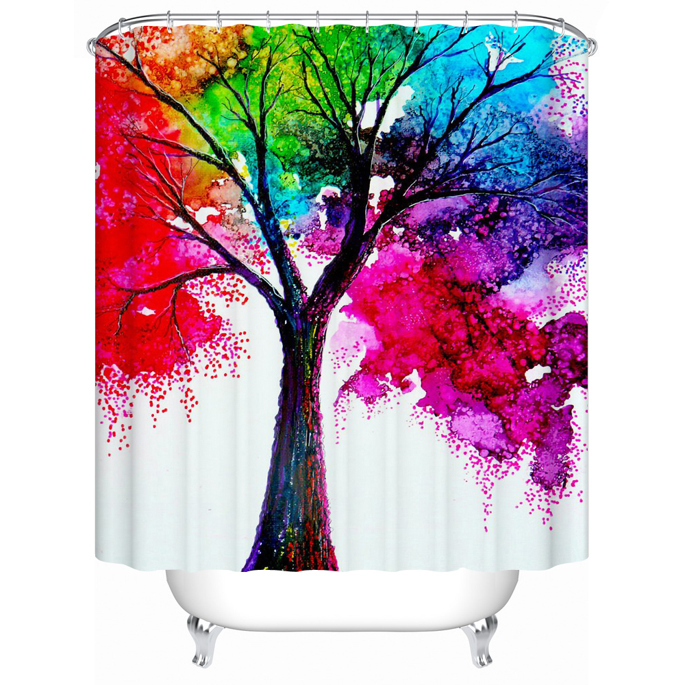 Shower Curtains A Variety of Colors Tree Eco-Friendly Shower Curtains Bathroom Curtain High Quality Bathroom Products Y-083(China (Mainland))