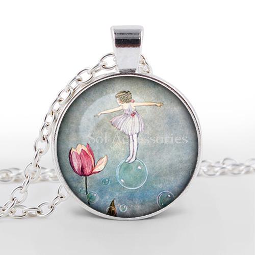10pcs/lot Fairy Pendant Art Nouveau Fairy Necklace Fairy Jewelry Fairytale Vintage Fairies Fantasy necklace Folk pendant<br><br>Aliexpress