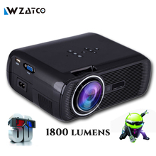 ATCO bl80 1800lumen Portable Mini full HD 1080P TV LED 3D Projector Android Wifi Smart Home Theater Beamer Proyector everycom(China (Mainland))