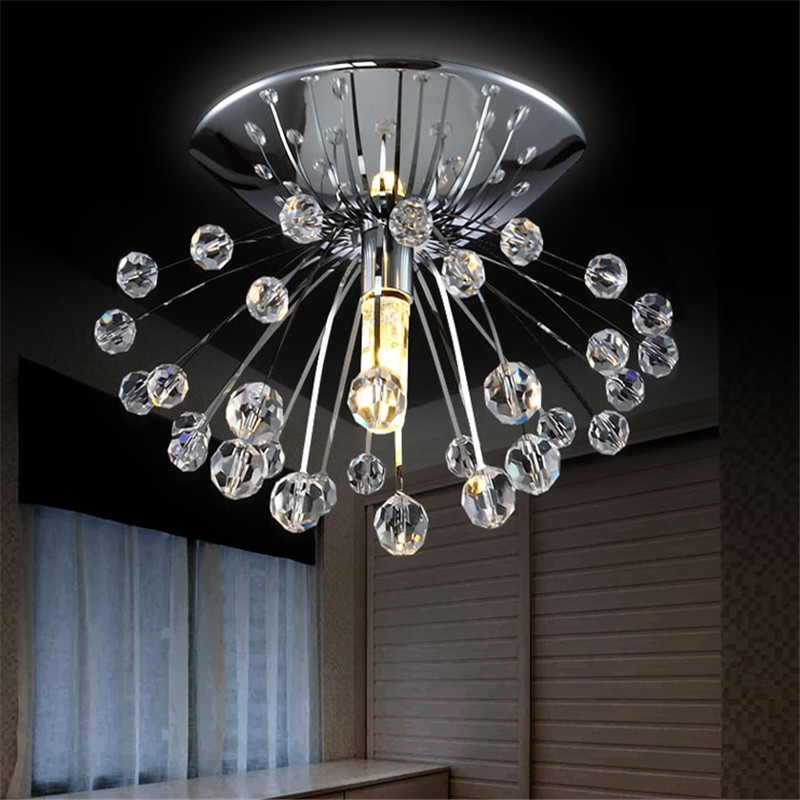 Free shipping hot sale design modern crystal chandelier light dia15 h7cm mini lustre cristal led - Chandeliers on sale online ...