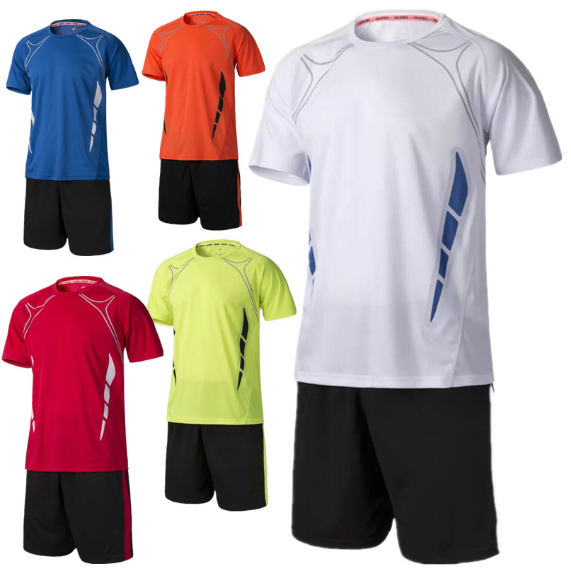 New Jogging Football Jerseys Boys Kits 2016/17 Men's Soccer Jersey Set Breathable Football Jerseys Sports Boy Team Training Suit(China (Mainland))