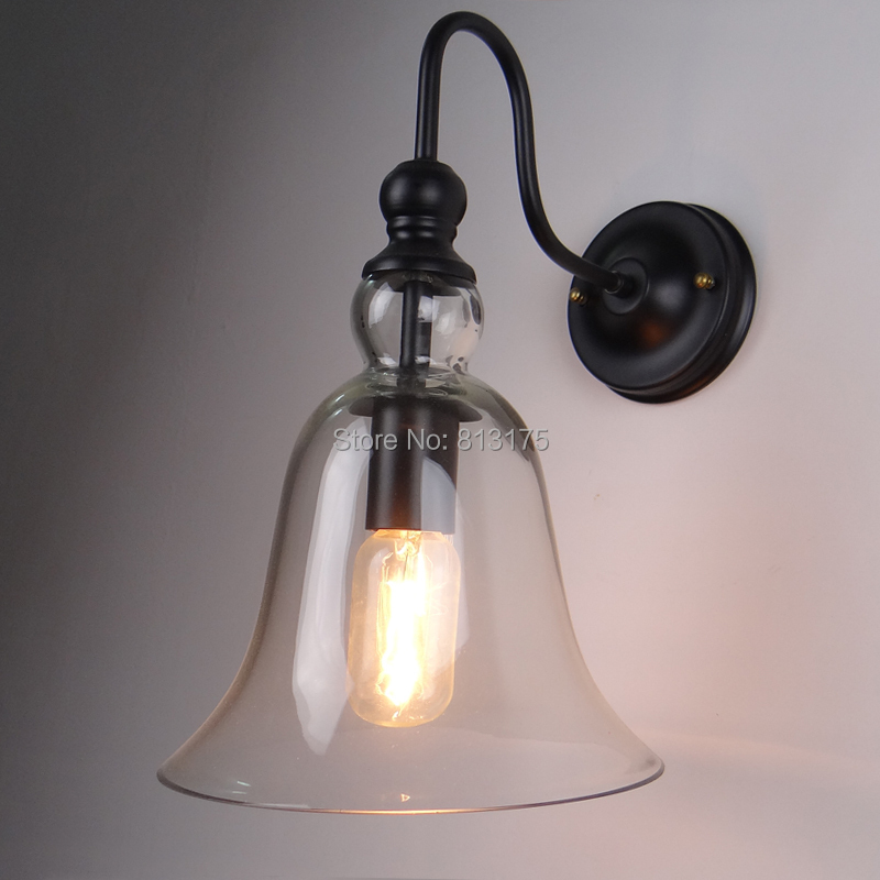 [ KC ] Loft Western Style Lamps Glass Bell Creative