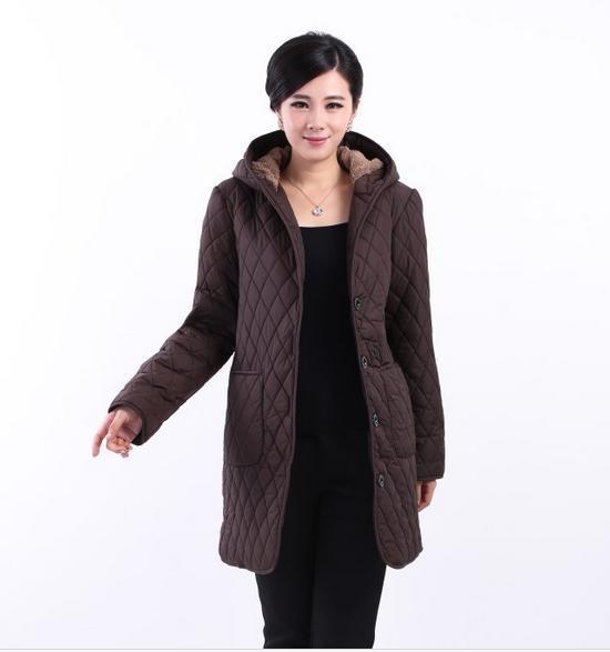 Parkas Padded jacket New winter fertilizer to increase middle-aged plus velvet hooded winter coat jacket 92398 Size XL-6XL(China (Mainland))