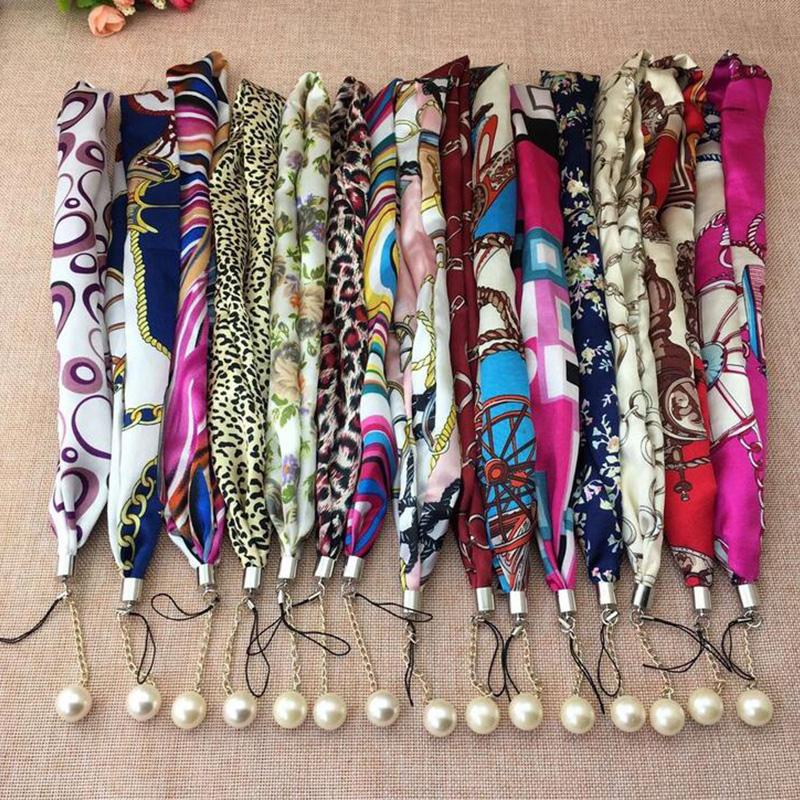 Silk scarf necklace rope Panic Buying Hot Sale Mobile phone lanyard leather lanyard u disk hanging lanyard wholesale(China (Mainland))