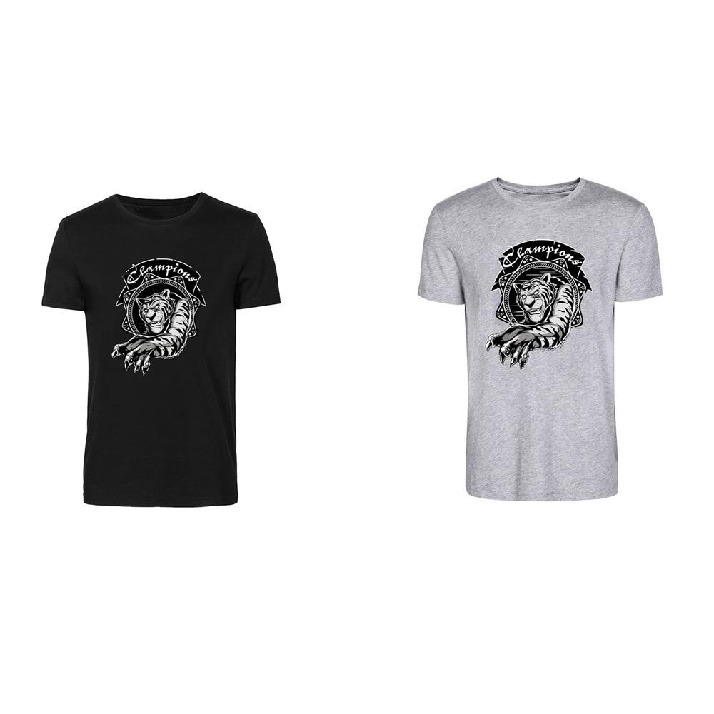 Animal Shirt A001 Young Digital Print Combed Cotton With Tiger Pattern T-shirt Short Tops Mens Summer Tees(China (Mainland))