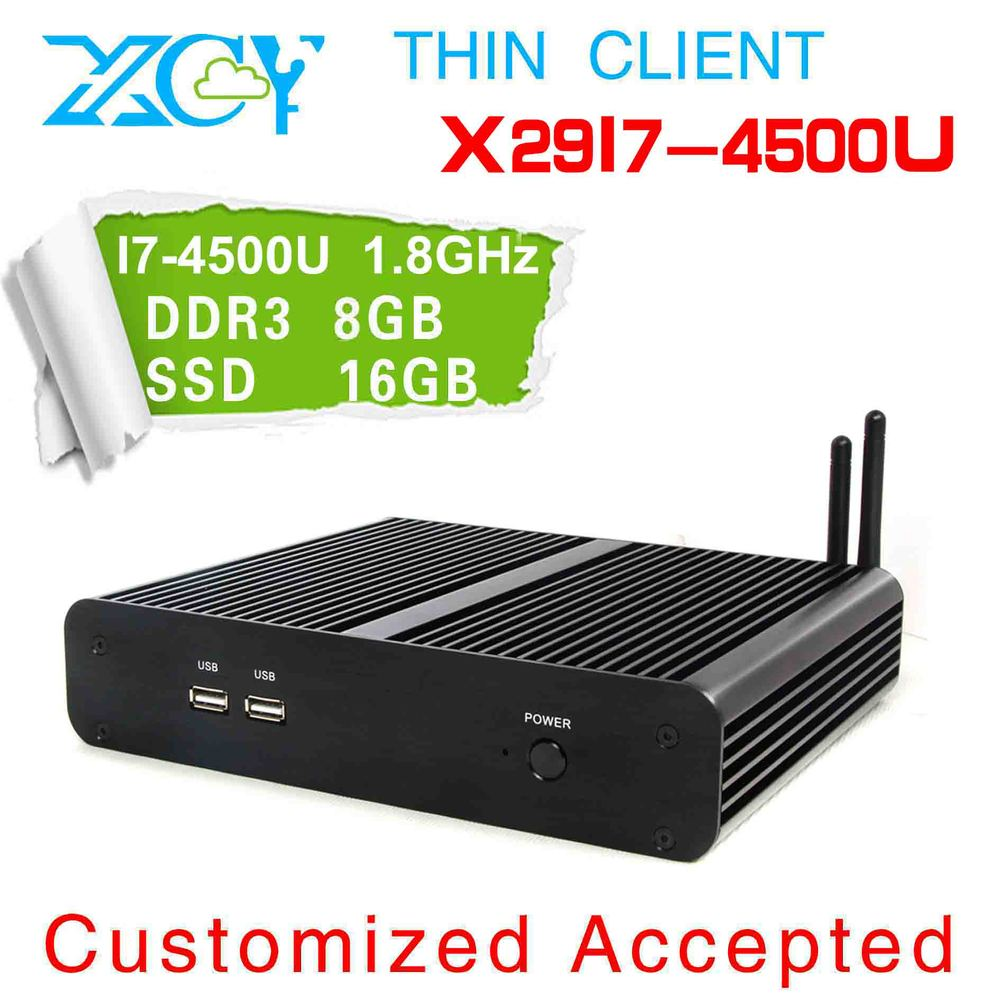 Best quality Haswell I7 4500u 8G RAM 16G SSD fanless mini pc Windows 7 or 8 Linux mini pc with hdmi and wifi(China (Mainland))
