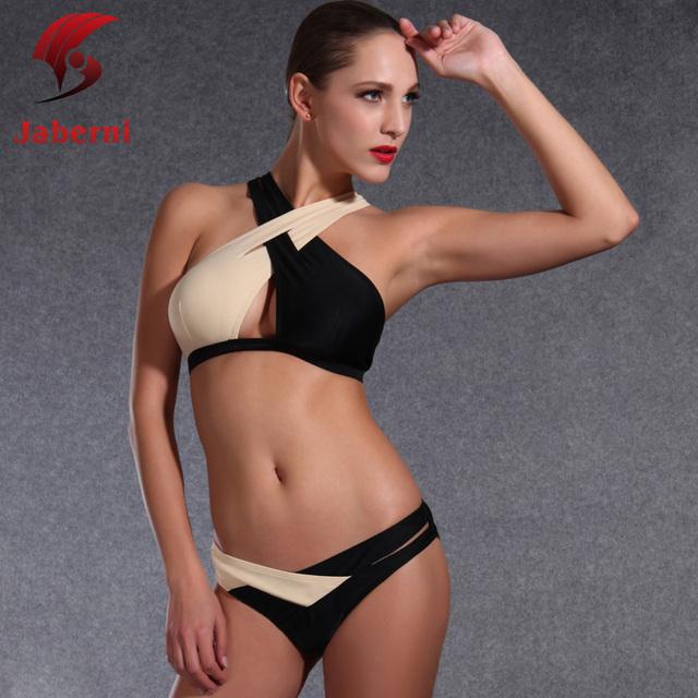 2016 высокая шея крест женщины купальник марка сексуальный пляж повязку бикини сексуальные прикалывать ретро сексуальная Biquini