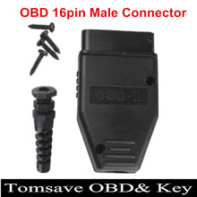 Free Shipping 20pcs/lot Universal OBD2 16 pin obd connector obd2 16pin Adaptor eobd2 obdii J1962 Connector with screws(China (Mainland))