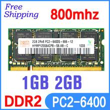 Hynix 2GB PC2-6400S DDR2-800 800Mhz 200pin DDR2 2gb Laptop Memory 2G pc2 6400 800 MHZ Notebook Module SODIMM RAM Free Shipping