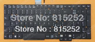 Laptop Keyboard for For SONY SVT15 Serials Black without frame with backlit IT 9Z.N9EBW.00E<br><br>Aliexpress