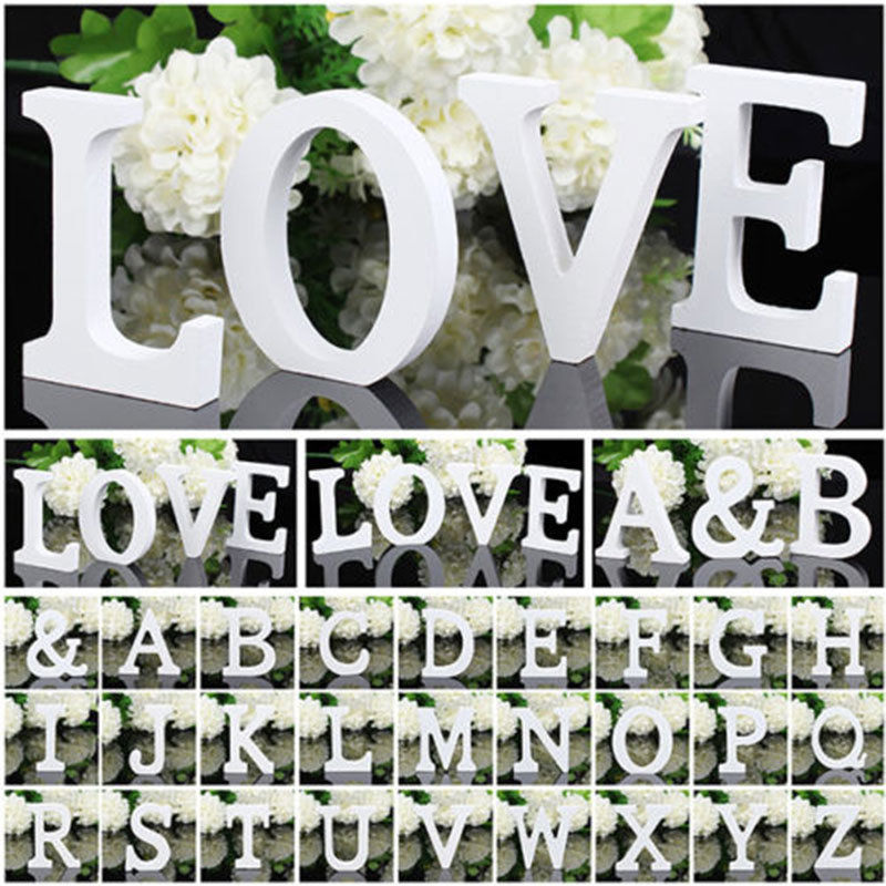 1 PCS Home Decoration Wood Wooden Letter Alphabet Word Free Standing Wedding Part Birthday(China (Mainland))