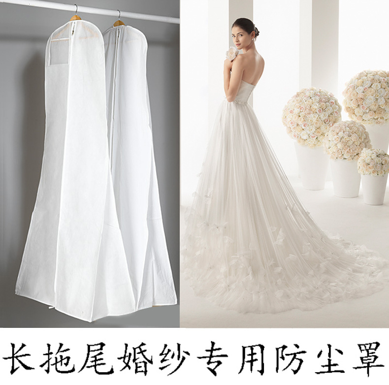 Non-Woven Fabric & Plastic Wedding Dresses Garment Dust Proof Cover Bags 180cm*70cm*25cm Storage Bags For Clothes(China (Mainland))