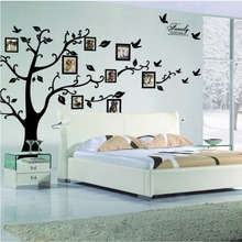 Buy Large Tree Wall Sticker Photo Frame Family DIY Vinyl 3D Wall Stickers Home Decor Living Room Wall Decals Tree Big Black Poster for $8.90 in AliExpress store