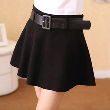 2015 woolen short skirt high waist bust skirt pleated skirt a-line skirt sheds