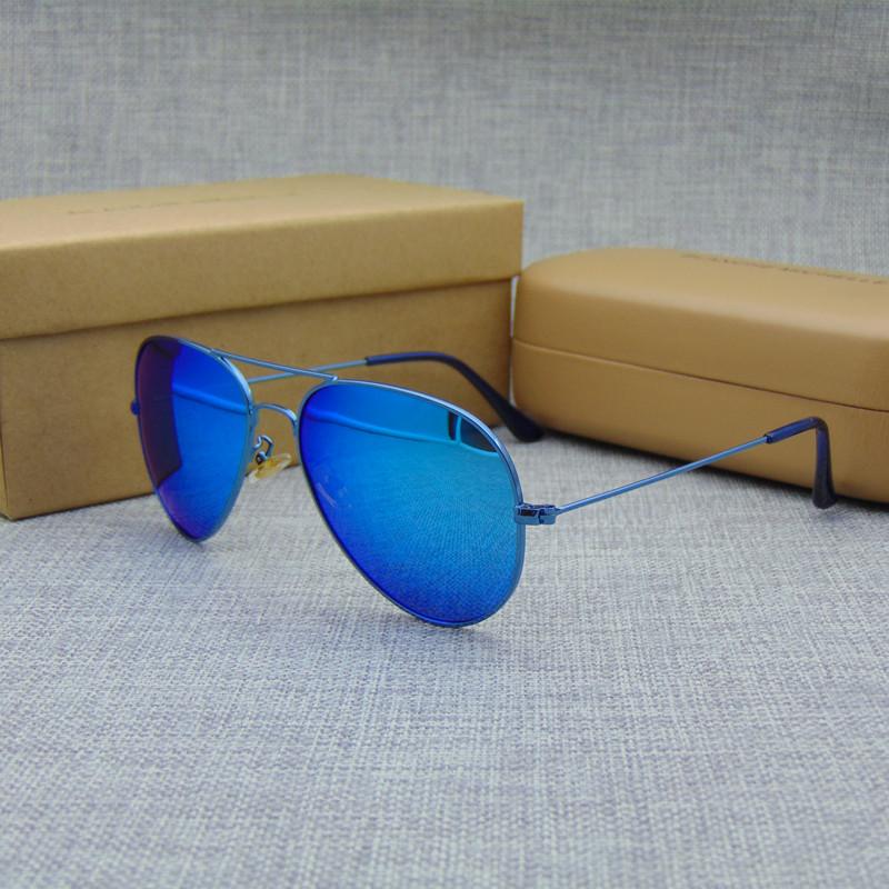 New Unisex Classic Color Coating Polarized Sunglasses Women Brand Designer Fashion Sun Glasses gafas oculos de sol 3025 with box(China (Mainland))