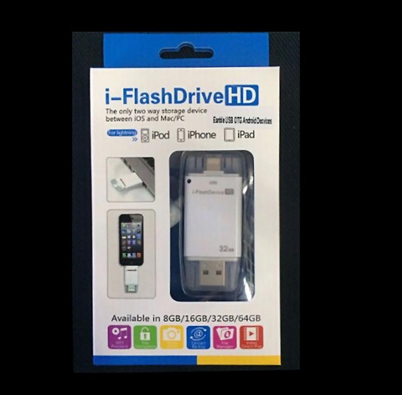 Free Shipping 16G 32G 64G USB interface Flash Drive for iPhone/iPad/iPod(China (Mainland))