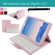 For Apple iPad Pro 12.9 inches Tablet 2015 New ABS DETACHABLE QWERTY Wireless Bluetooth Keyboard Portfolio Leather Stand Case(China (Mainland))