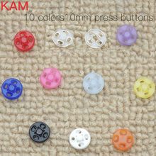 Buy 10 Colors 300 sets 10mm KAM Snap Button Fastener buttons Press Buttons 30sets color white black yellow rose pink clear for $7.49 in AliExpress store