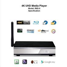 NEW Egreat R6S-II wifi 3D 4K UHD Media Player Android 4.4 1080P HDMI USB HD Media Player MKV/RM/RMVB Free Shipping(China (Mainland))