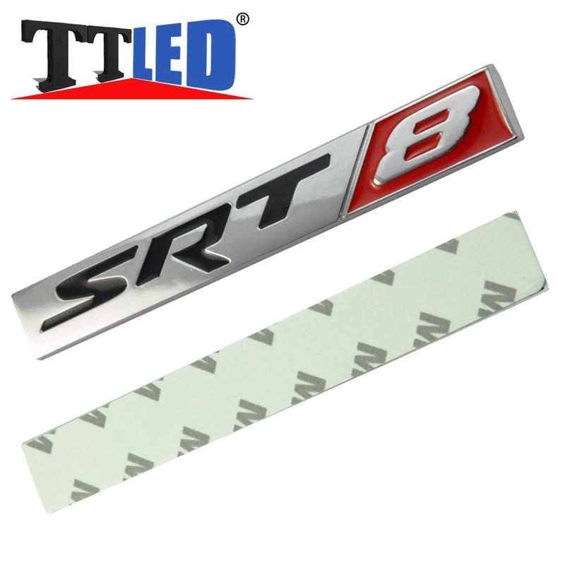50X SRT8 SRT DESIGN Edition Nameplate Emblem Badge Decal Stickers Metal Aluminunm Red Black(China (Mainland))