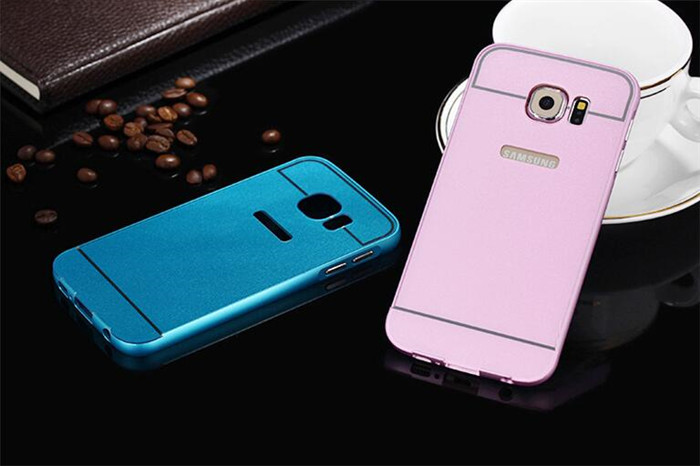 Edge Metal Aluminum Bumper + Acrylic Hard Back Case For Samsung Galaxy S7 G9300 Hybrid Cover Ultra Thin 1mm Phone Cases