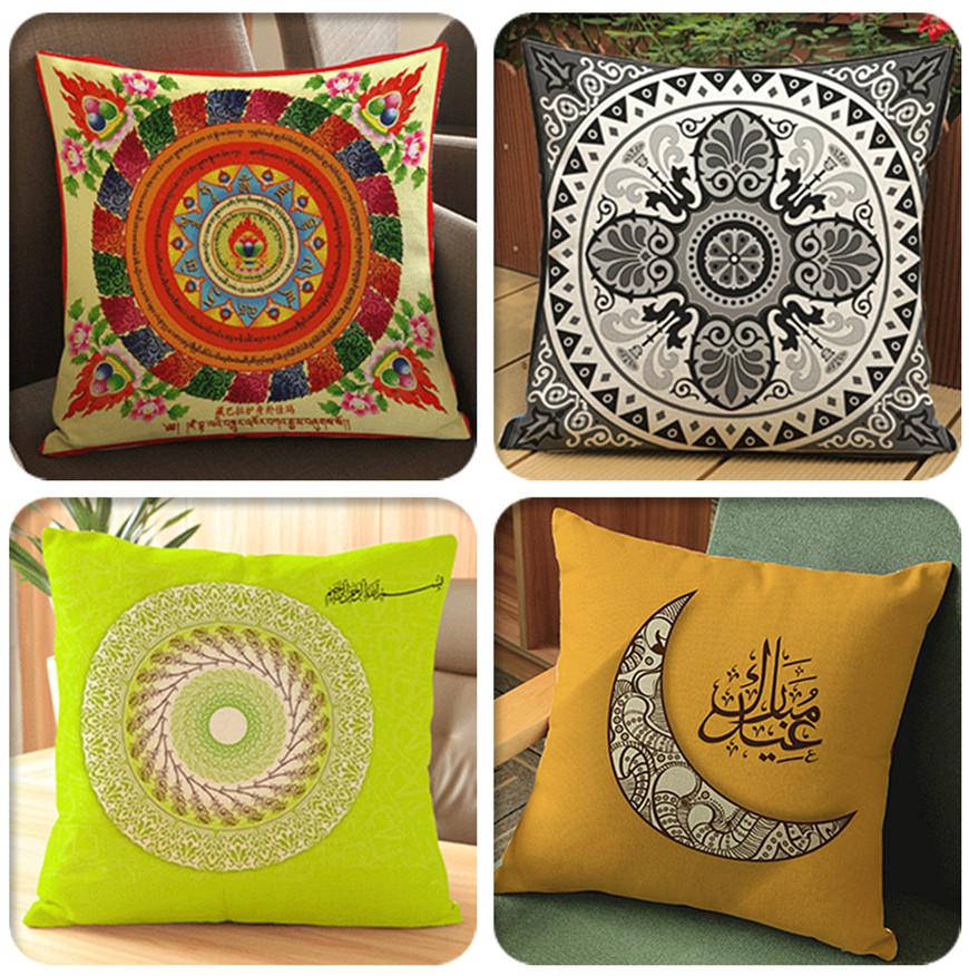 islamic pattern cushion decorative pillows cushions home hand painted graffiti dog throw pillow for home decor