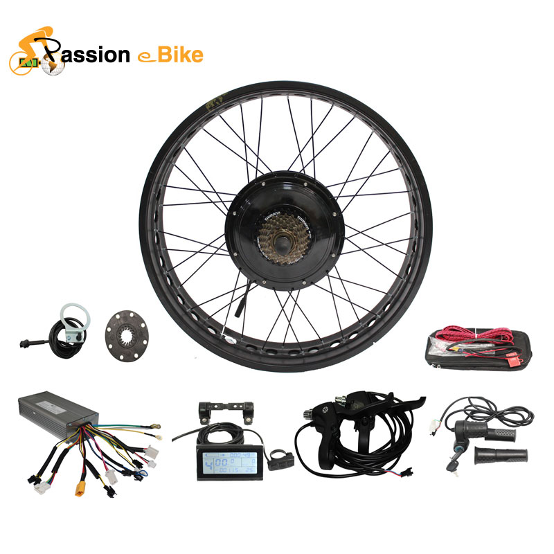 """Passion Ebike 48V 1000W Electric Bicycle Fat Bike Conversion Kit Black Blue Yellow 26"""" Wheel Motor for 175mm or 190mm Hub Motor(China (Mainland))"""