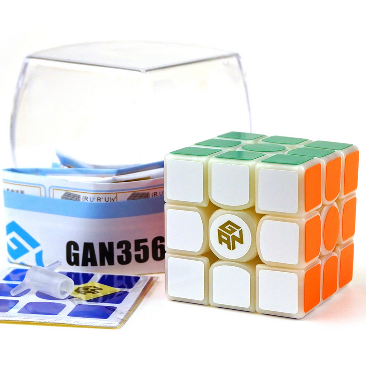 Athletics Magic Cube GAN 356S 3x3x3 Carbon Fiber Sticker Magico Cubo Puzzle Blocks Cube Challenge Educational Kids Gifts Toys(China (Mainland))