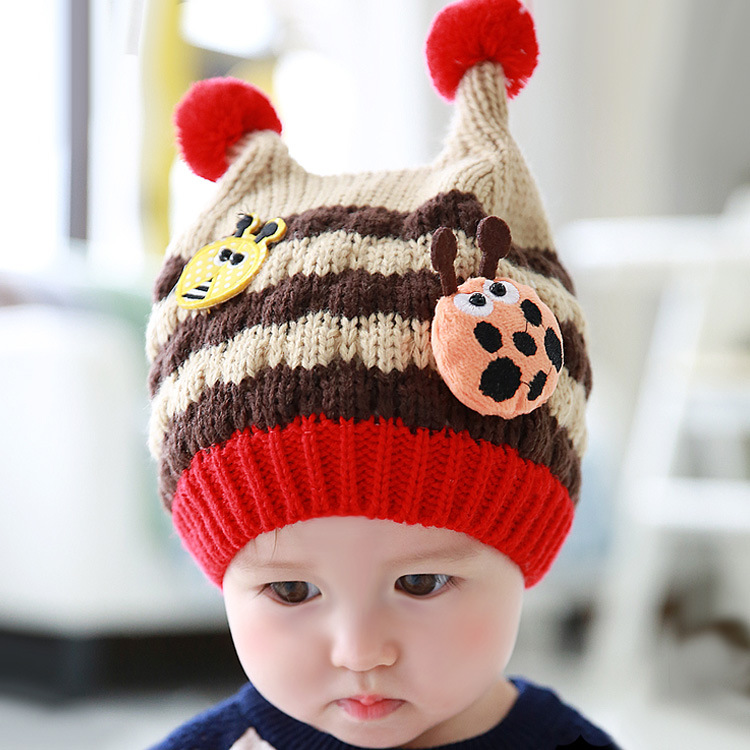 Hats & Caps With 3D Beatles Beanie Caps baby hat For Baby 6-24 Months(China (Mainland))