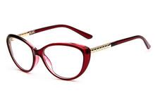 2015 New brand red wine vintage oval women spectacle frame optical computer eye glasses frames oculos de grau femininos gafas