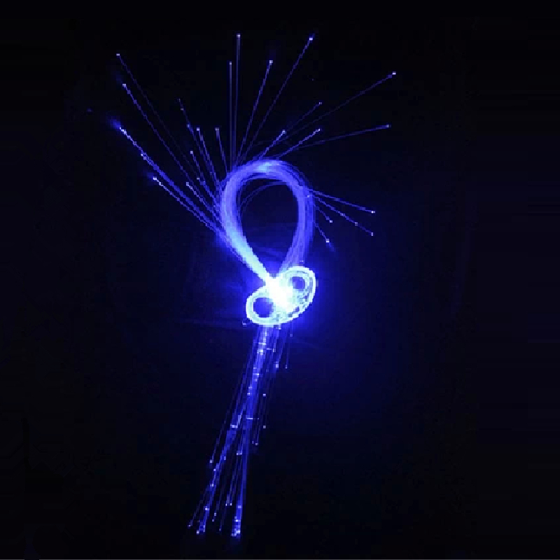 2014 NEW Led hair accessory flash light hairpin hair party articles hair pigtail luminous nice glow(China (Mainland))