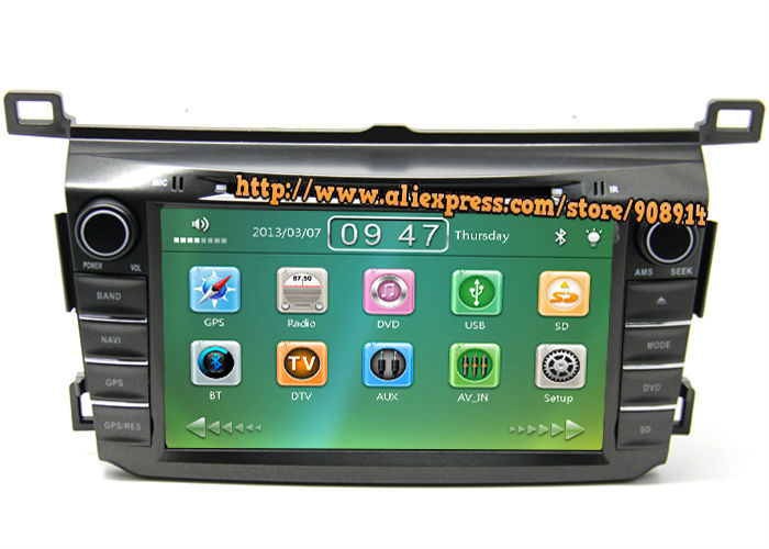 Free Shipping 2Din Car DVD Player For TOYOTA RAV4 2013 2014 With 3G USB Host Radio GPS Bluetooth TV 1080P Ipod Free Map(China (Mainland))