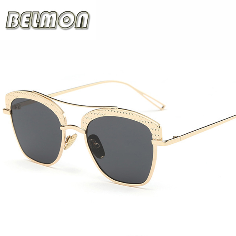 Fashion Sunglasses Women 2016 Luxury Brand Designer Original Sun Glasses For Ladies Mirror Lens UV400 Female Oculos de sol RS063(China (Mainland))