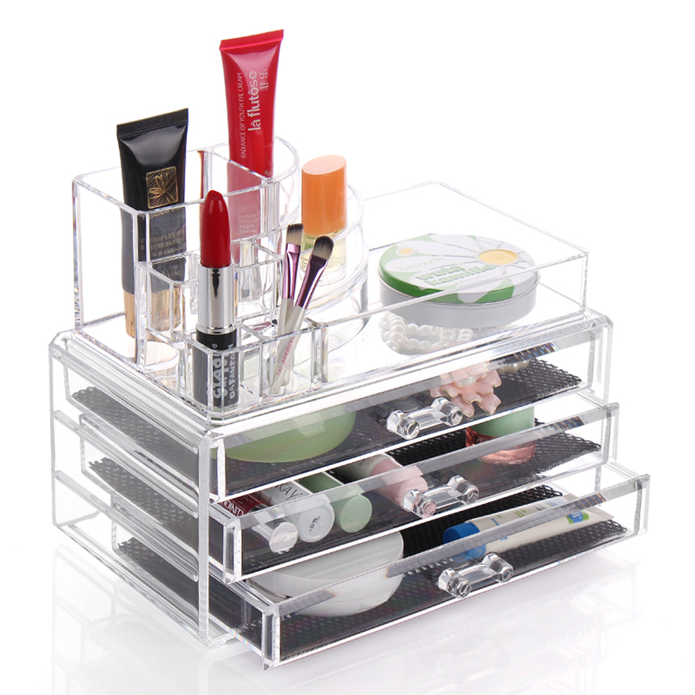 2016 Hot Display Stand Clear Acrylic Cosmetic Organizer Lipstick Holder Cosmetic Organizer Makeup Case Storage EQC347(China (Mainland))