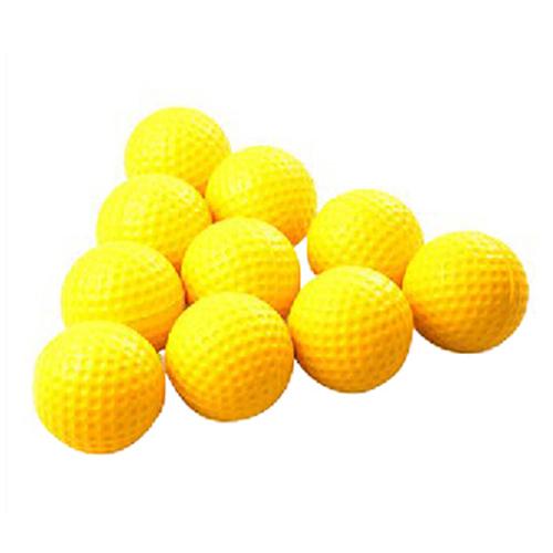 10pcs Yellow Soft Elastic Indoor Practice PU Golf Balls Training Aid(China (Mainland))