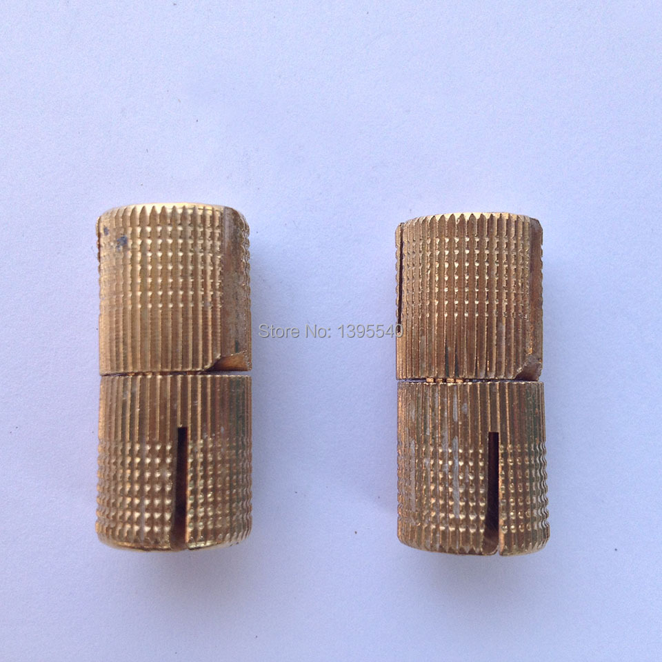 New 2pcs 10mm Brass Furniture Cabinet Hinge Cylindrical