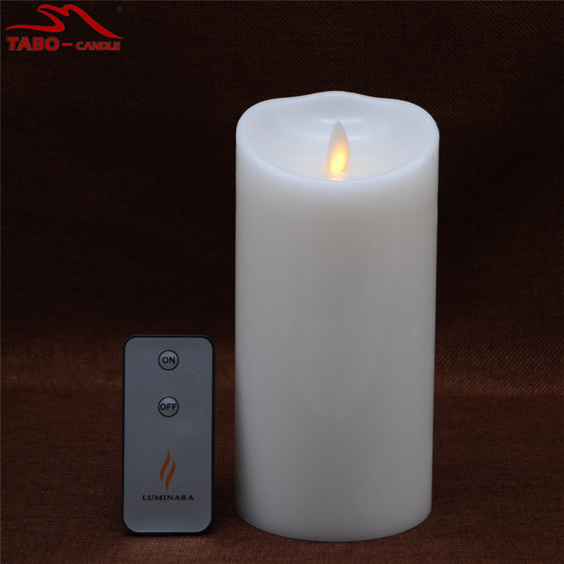 Amber Yellow Light Flickering Moving Wick Flameless LED Candle with Remote Timer for Birthday Xmas Gift In 7 Inch(China (Mainland))