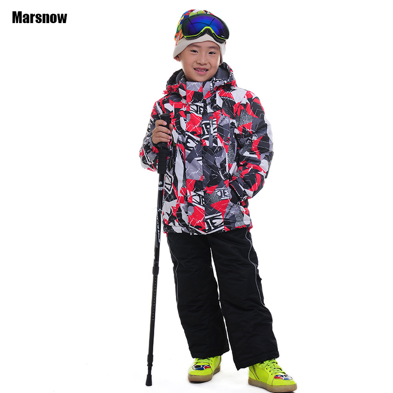 110-164 winter suit children wear 2016 clothing set windproof ski jackets+pant children girls boys outdoor warm suit snow sets(China (Mainland))