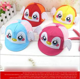 Baby's soft brim Cap Visor cap Diamong little duck Big eyes Sunhat Ball Cap 20 pcs lot LXX3029