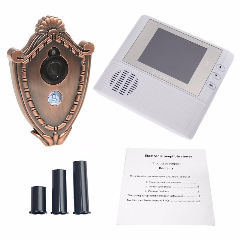 Видео глаз кольцо дверной звонок камера беспроводной глазок 2 8 дюймов TFT lcd 3X зум 9.5