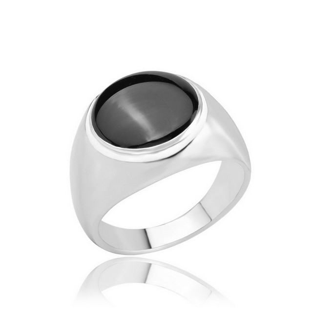 European and American star with simple elegance of the oil ring antique silver plated men's jewelry punk female ring A-1272(China (Mainland))