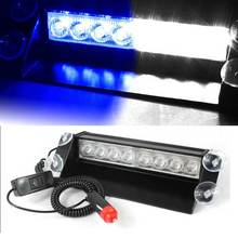 New Car Styling 8 LED Car Police Strobe Flash Light Dash Emergency 3 Flashing Fog Lights Red Blue White Amber yellow Green