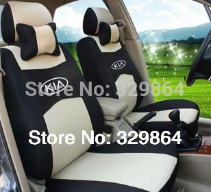 wholesale Generic car version Seat Cover For Volkswagen Polo Jetta Bora Santana Vista Lavida Golf With +logo full Covers set(China (Mainland))