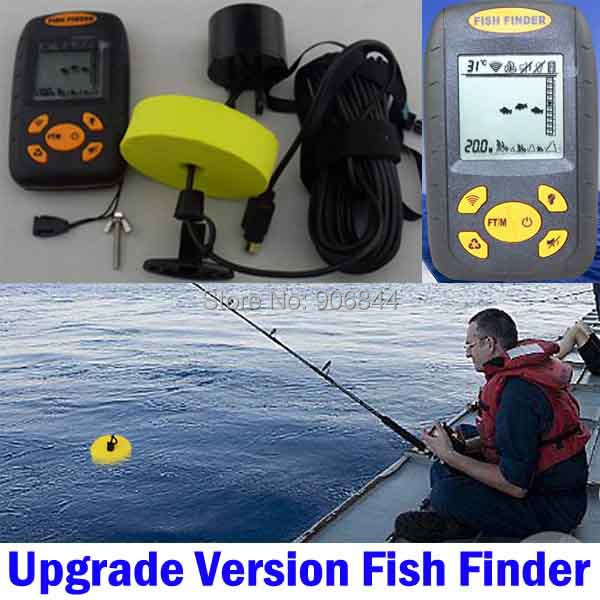 Portable electronic sonar lcd fish depth finder fishfinder for Ice fish finder